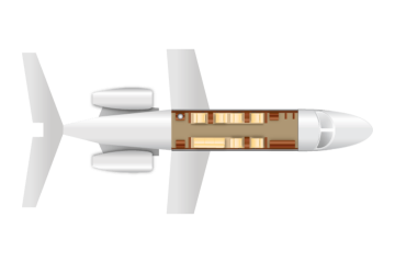Private Heavy Jet Challenger 600 Floor Plan