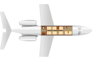 Private Mid Size Jet Citation III Floor Plan
